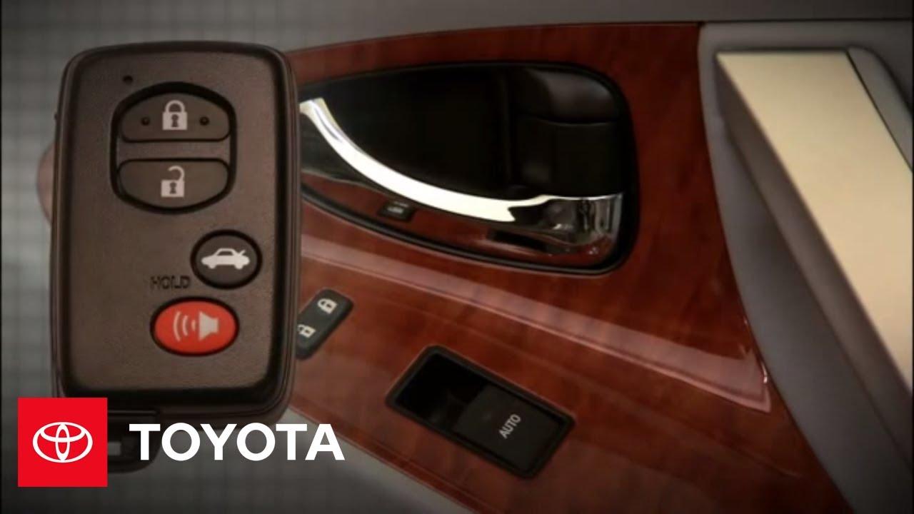 2011 camry hybrid how to remote keyless entry system toyota youtube