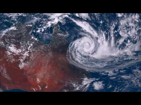 The Life Of Cyclone Debbie (HD View From Satellite)