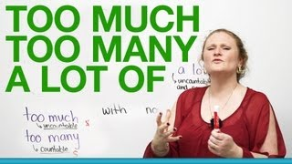 Basic English Grammar – TOO MUCH, TOO MANY, A LOT OF