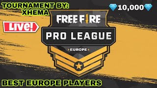 💎TOURNAMENT💎 10000💎 FREE FIRE LIVE GROUP 4