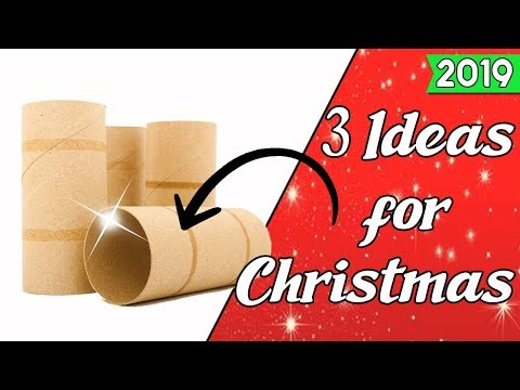 3 Ideas for Christmas 2019 with Cardboard Tubes - Ecobrisa DIY