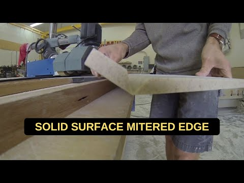 Solid Surface Mitered Edge Demonstration