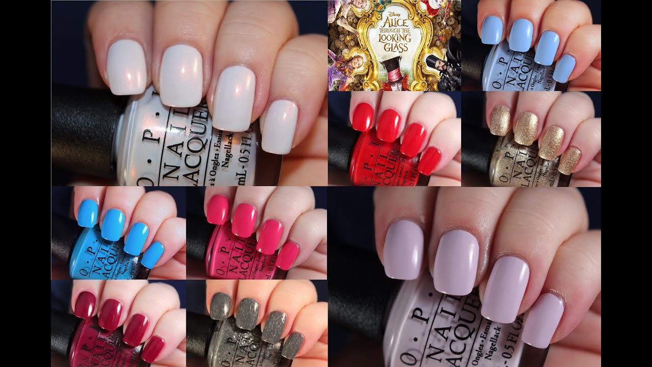 OPI Alice Through the Looking Glass | Live Application Review - YouTube