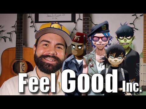 Feel Good Inc. - Ukulele Tutorial - The Gorillaz - with bass and tabs