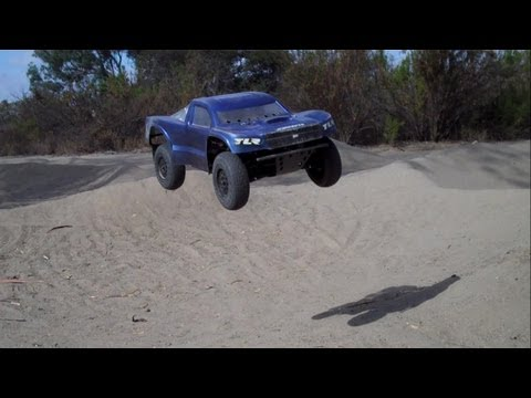 Losi Ten SCTE - Monster Jumps on a Bashing Track