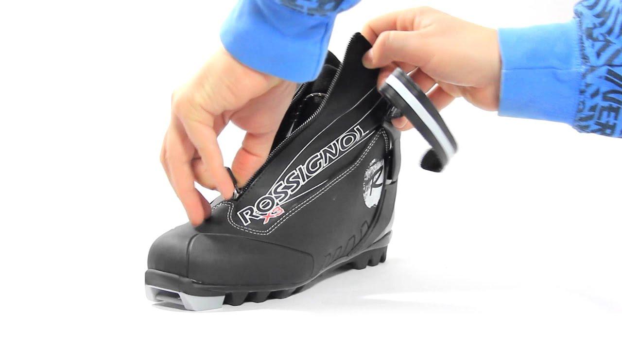 4d225f0ec7f ROSSIGNOL X3 BLACK WHITE RI9WA16 - běžkařské boty - YouTube
