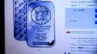 BEWARE of fake Sunshine, and Morgan silver bars on Ebay.