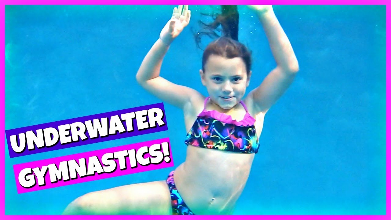 Gymnastics And Underwater Swimming Tricks Family Vlog Youtube