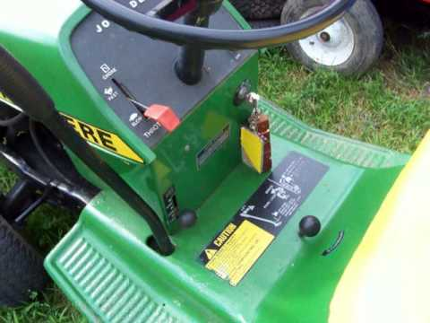 John Deere 60 Wiring Diagram John Deere 111 Hydrostatic Lawn Tractor Youtube