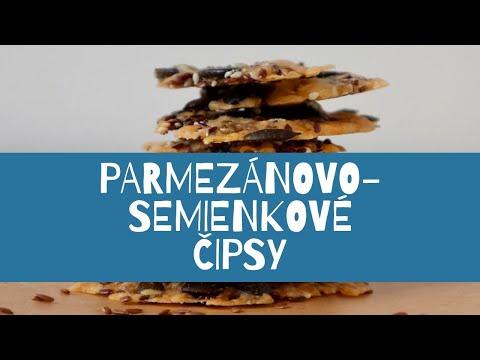 Parmezánovo-semienkové čipsy