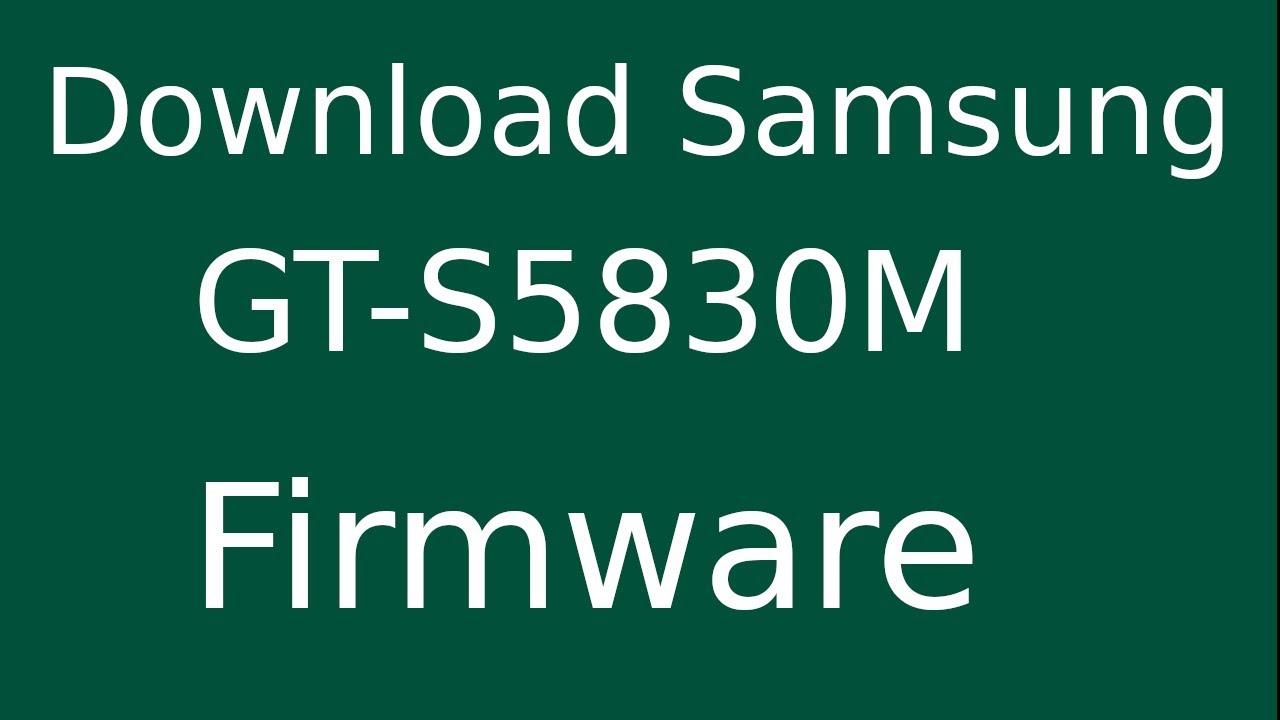 Samsung s5830m flash file