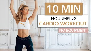 10 MIN CARDIO / No Jumping - silent & neighbor friendly / No Equipment I Pamela Reif