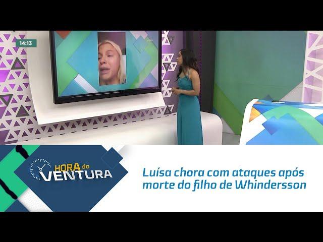 Luísa Sonza chora com ataques após morte do filho de Whindersson