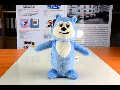 singing and moving head and hand plush animal dolls with funny music