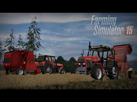 Gospodarstwo Rolne #2 ☆ Farming Simulator 15 Multiplayer - Slovakia Map ☆ Akcja słoma  ㋡