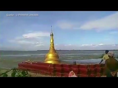 Amateurvideo aus Burma: Touristenattraktion stürzt in Fluss