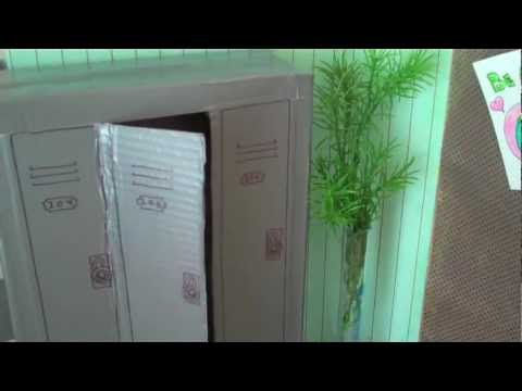 How to Make Doll School Lockers  YouTube