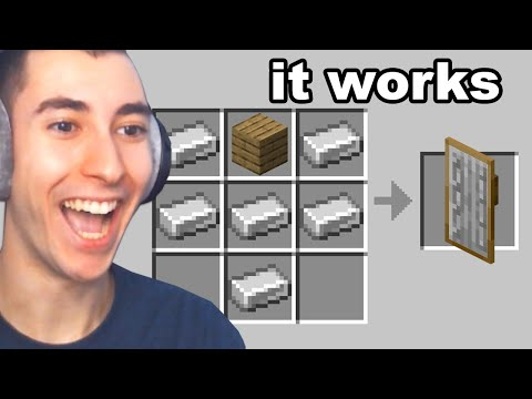 Testing VIRAL Minecraft Crafts to see if they work