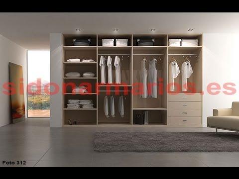 Interior de armario melamina textil claro sidonarmarios - Cajonera interior armario ...