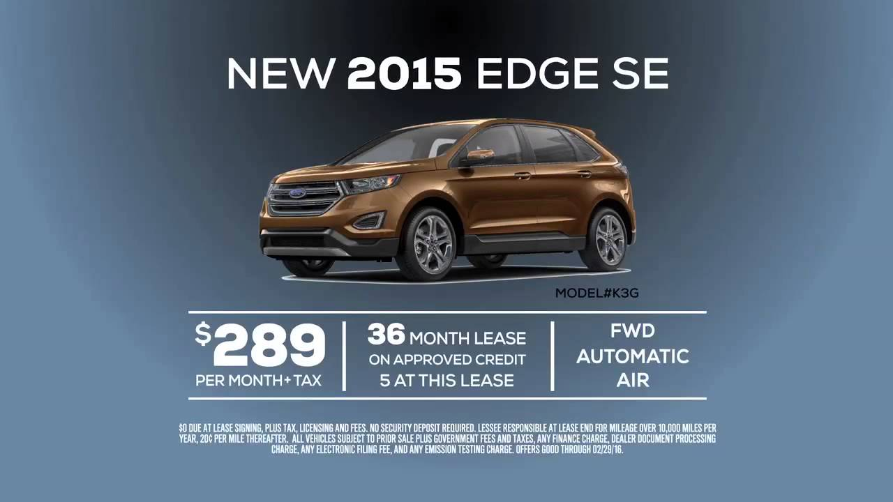 2015 ford edge se lease special offer from ford of orange