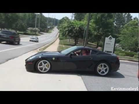 Ferrari 599 GTB Fiorano sound!! Startup, revs, acceleration...