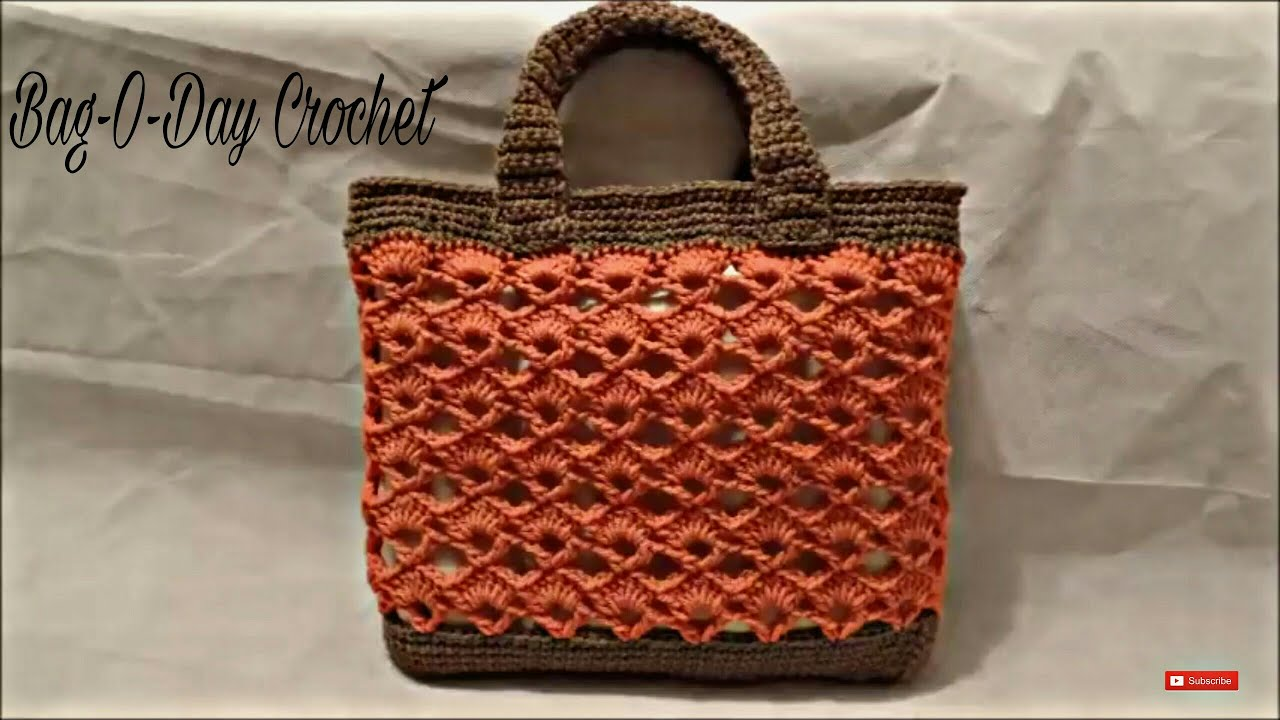 Crochet Handbag Tutorial : CROCHET How to #Crochet Handbag Purse Bag #TUTORIAL #197 LEARN CROCHET ...