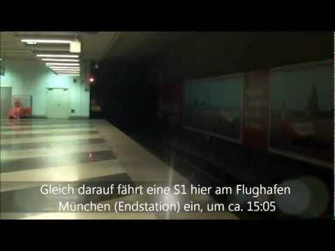 Flughafen München - Münchner S-Bahn - Munich Airport Train-Station