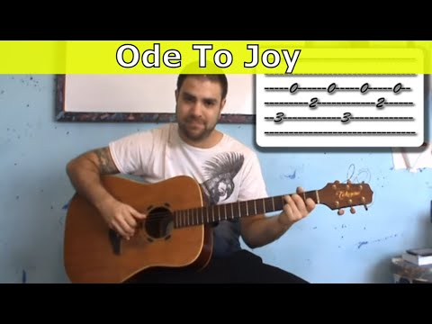Tutorial: Ode to Joy - Fingerstyle Guitar w/ TAB