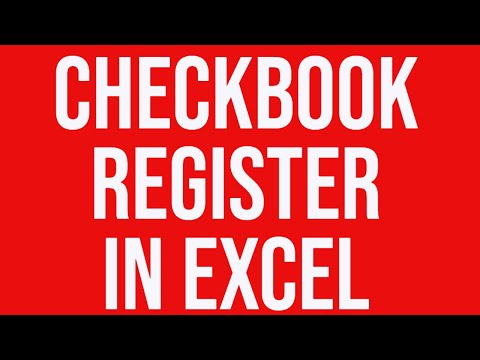 Checkbook Register in MS Excel - YouTube
