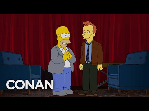 Homer-Simpson-Conducts-Conans-TBS-Exit-Interview-CONAN-on-TBS
