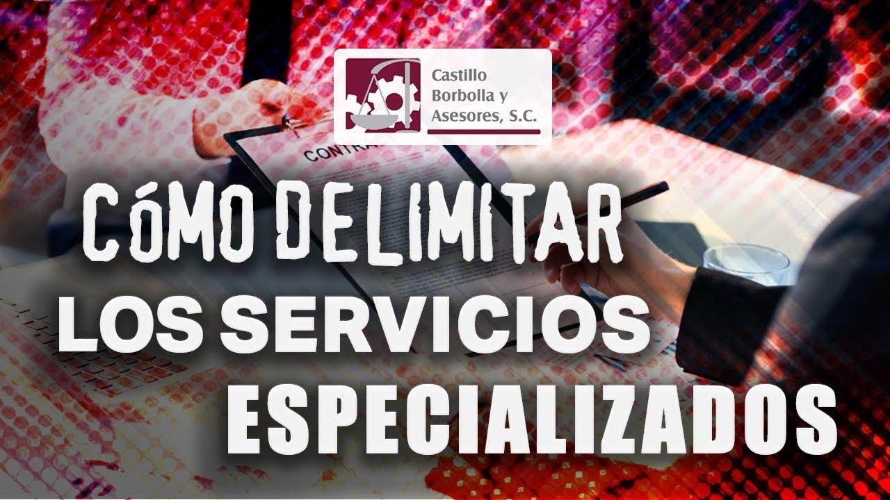Cómo delimitar los Servicios Especializados