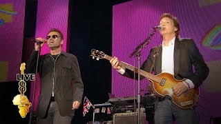 Paul McCartney / George Michael - Drive My Car (Live 8 2005)