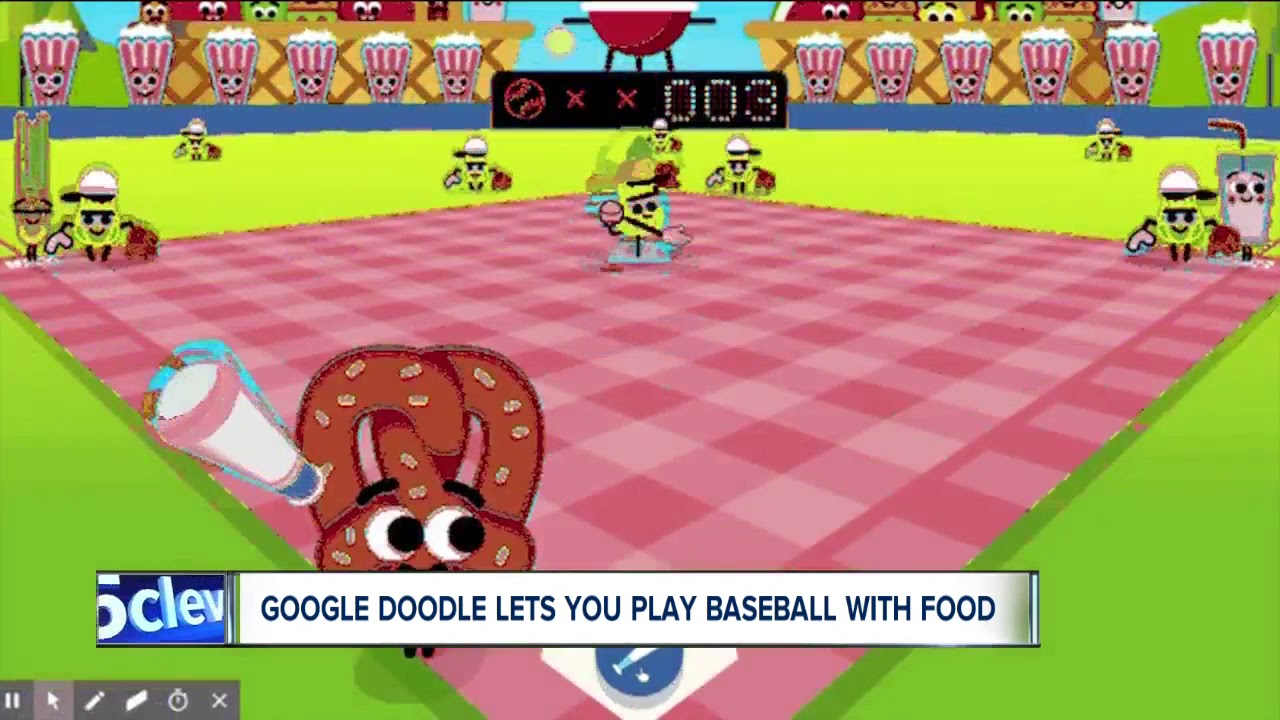Google Doodles Let You Play Baseball With Food Youtube
