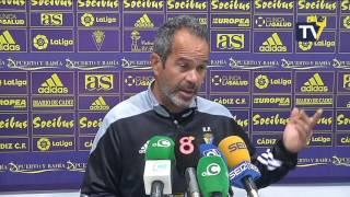 Rueda de prensa de Álvaro Cervera en previa Cádiz-Mirandés (03-02-16)