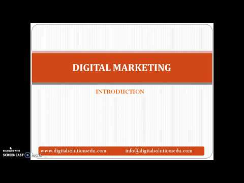 How to learn Digital Marketing online-training demo by digital solutions and education