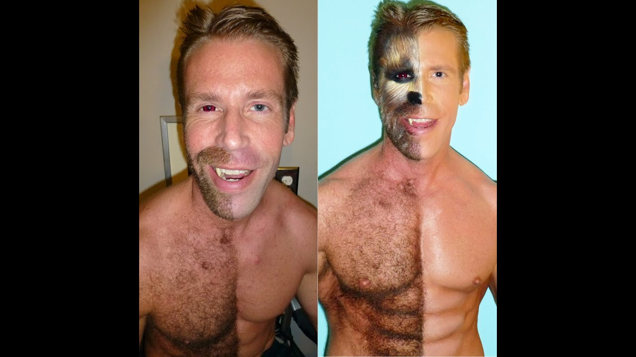 HALF-MAN HALF-WEREWOLF STEP BY STEP MAKEUP TUTORIAL ...