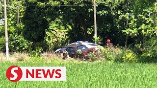 Man nabbed after high-speed car chase, companion gets away