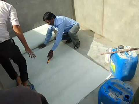 Fibre coating in cement tank