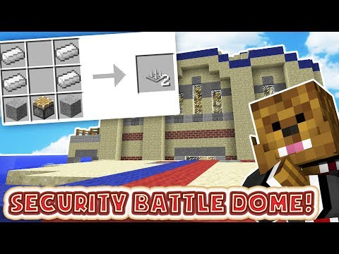 MINECRAFT SECURITY TRAPS MODDED BATTLEDOME MINIGAME - MINECRAFT MOD CHALLENGE #1