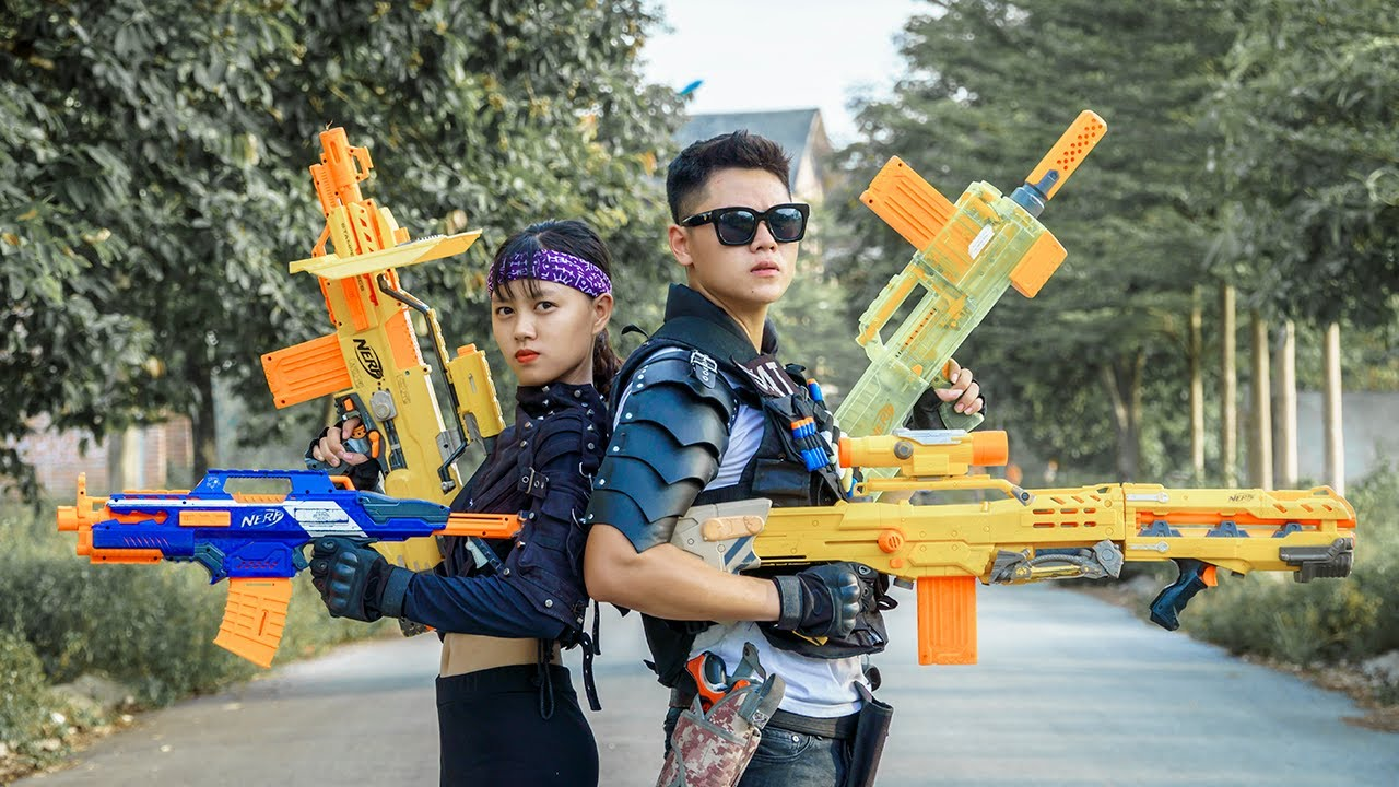 LTT Nerf War : Squad SEAL X Warriors Nerf Guns Fight Dr.Lee Crazy The Last Battle Swat Girl