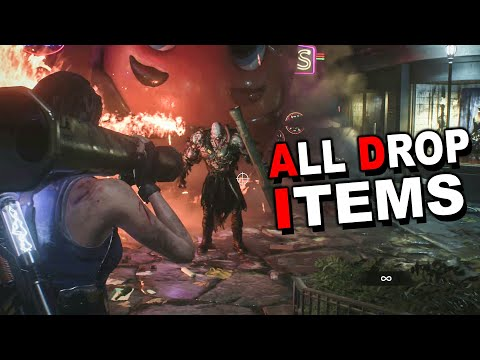 Resident Evil 3 Remake - Nemesis All Drop Weapon Parts & Ammo (Supply Case)