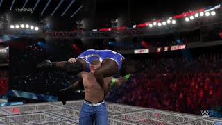 WWE 2K15- John Cena vs Mark Henry Hell in A Cell Match at Payback 2015 (PS4)