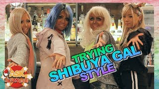 THE LAST GYARU GIRLS OF SHIBUYA |Kurogyaru Makeover at the Ganguro Cafe Tokyo