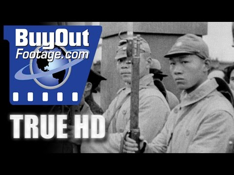 HD Historic Stock Footage WWII - JAPAN, MENACE OF THE RISING SUN