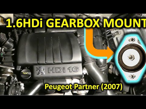 How to replace engine gearbox mount in 1.6HDi Peugeot Partner (or Citroen Berlingo 2001-2010)