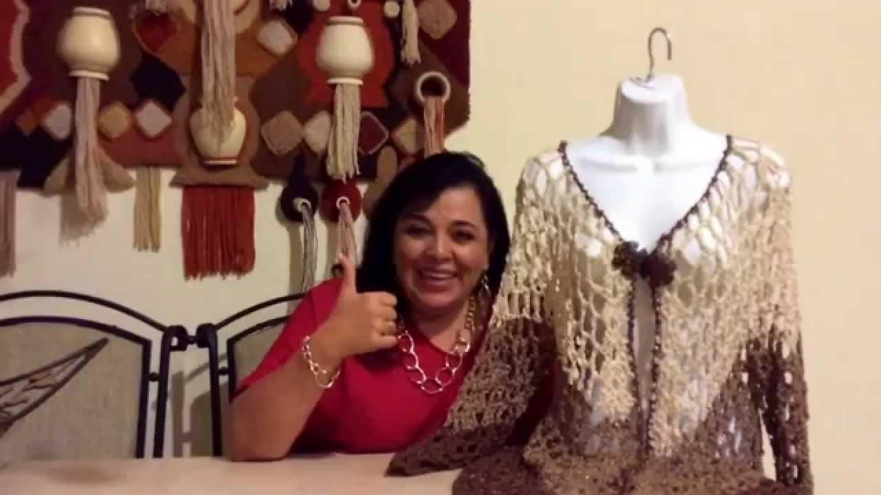2d26881d3 CÓMO TEJER UNA AMERICANA O UN SACO DE PICO - Crochet fácil y rápido - YO  TEJO CON LAURA CEPEDA - YouTube
