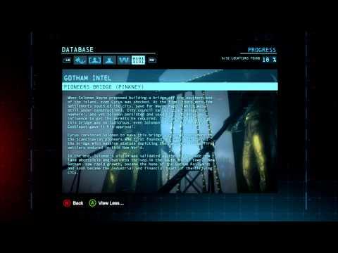 Batman Arkham Origins Gotham City Intel 8 Cyrus Pinkney Plaques locations