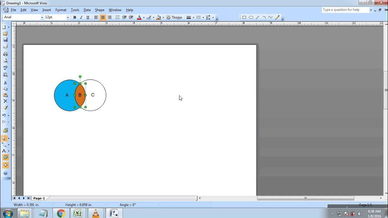 Cara membuat diagram venn di Microsoft Visio 2007  YouTube