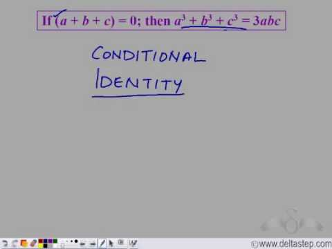 Special Identities: a3 + b3 + c3 - 3abc