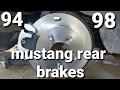 94 - 98 mustang rear brakes